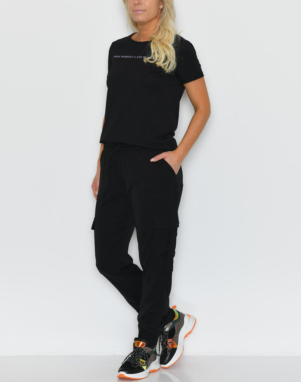 Soft Rebels Ann cargo pants black - Online-Mode