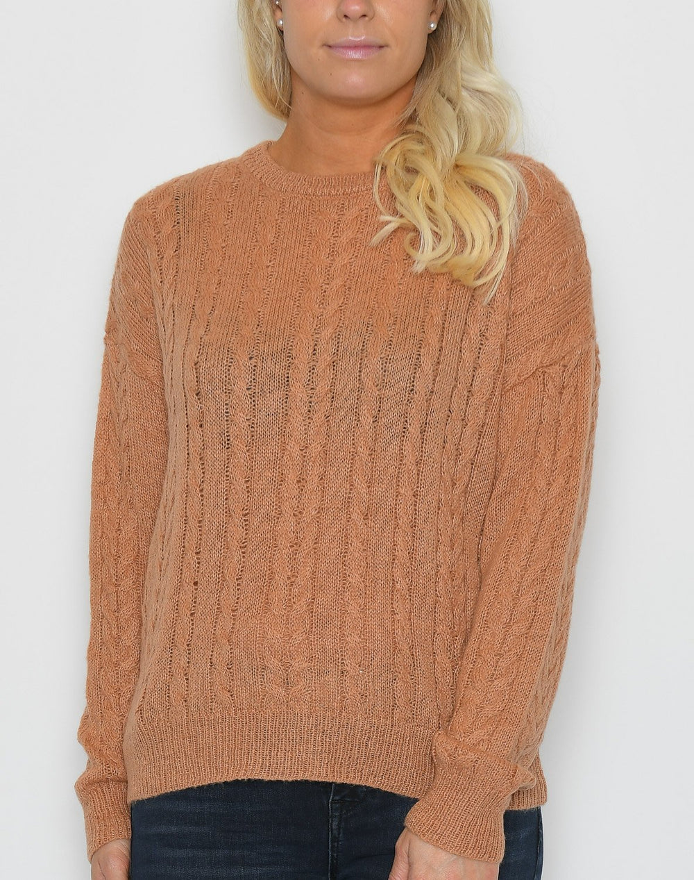 Soft Rebels Calby O-neck knit pullover cork - Online-Mode