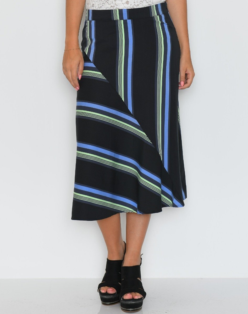 Soft Rebels Kajsa skirt multi stripe print - Online-Mode