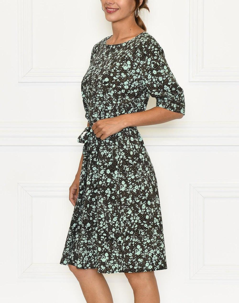 Soft Rebels Nina 2/4 dress nina print ocean wave - Online-Mode