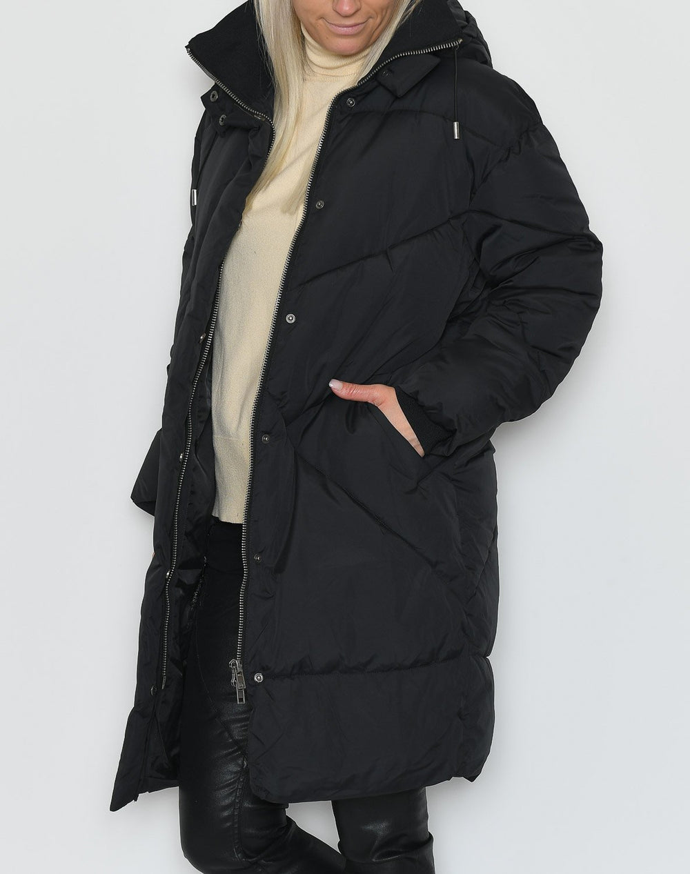 Soft Rebels Para padded coat black - Online-Mode