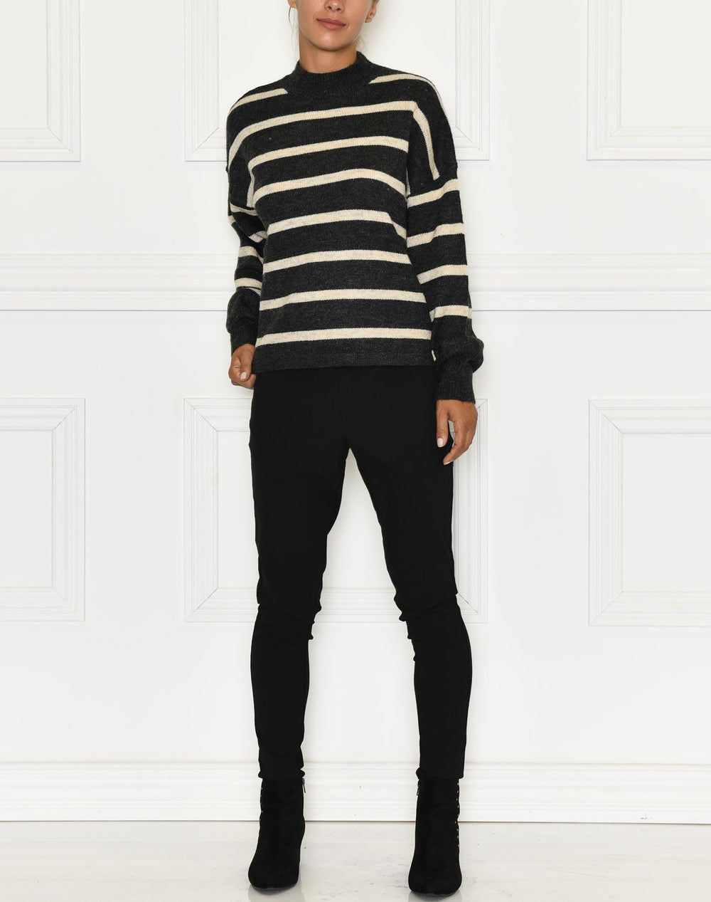 Soft Rebels Patia T-neck knit black - Online-Mode