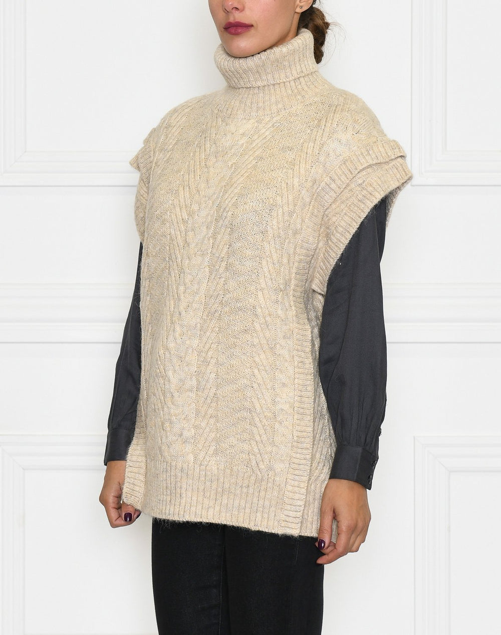 Soft Rebels SRsandy knit vest whitecap gray - Online-Mode