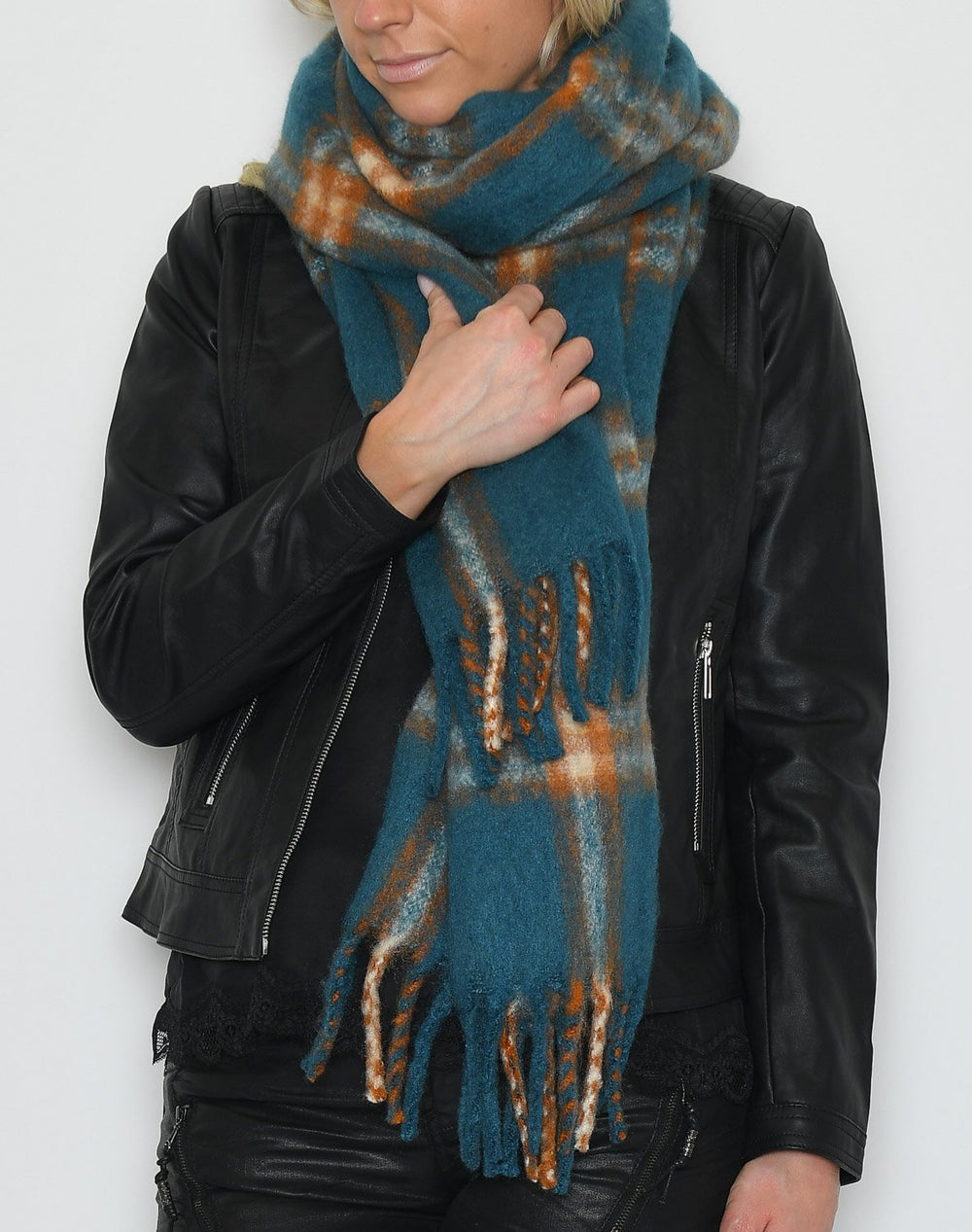 Soya Bertina scarf blue mix - Online-Mode