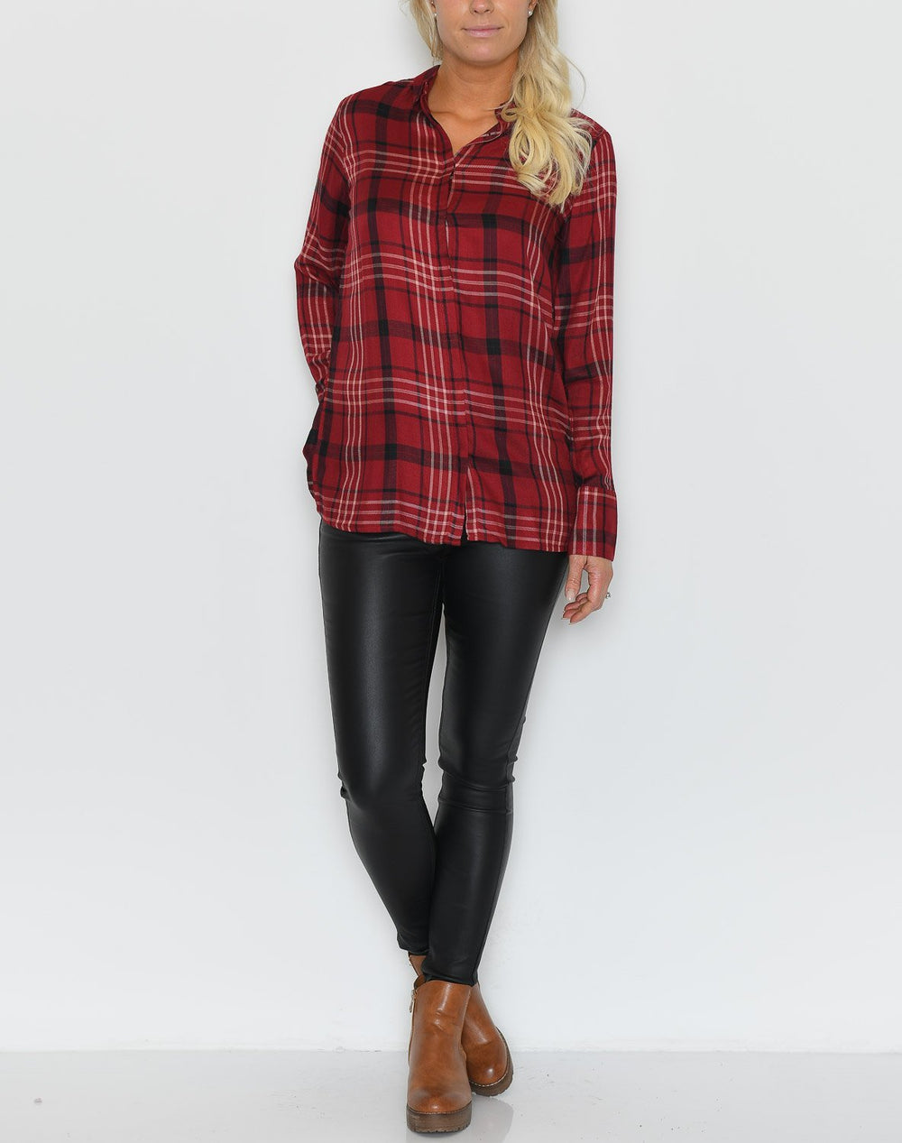 Soya Brianna 2 shirt red - Online-Mode