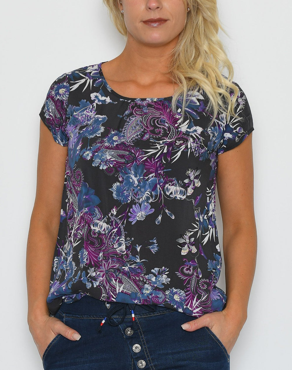 Soya Isabea 1 t-shirt purple mix - Online-Mode