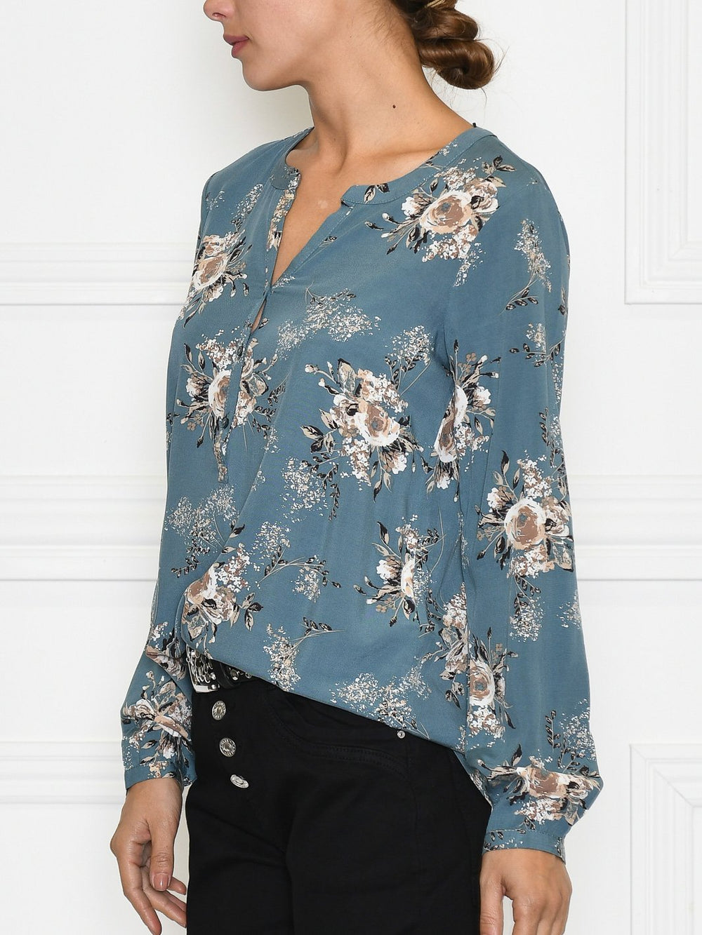 Soya Lenia 2 bluse dusty blue - Online-Mode