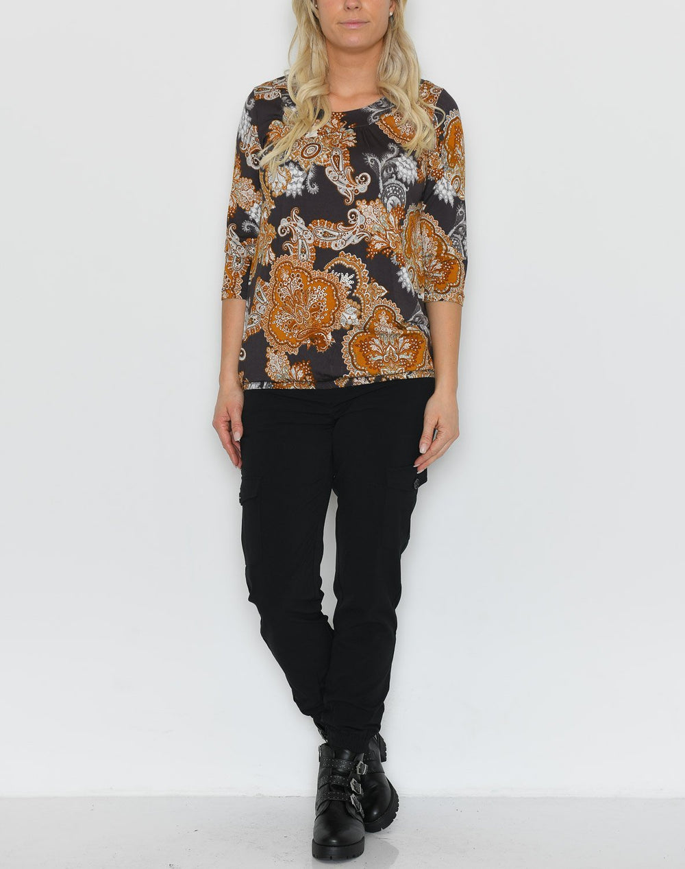 Soya Marica AOP 93 bluse brown mix - Online-Mode