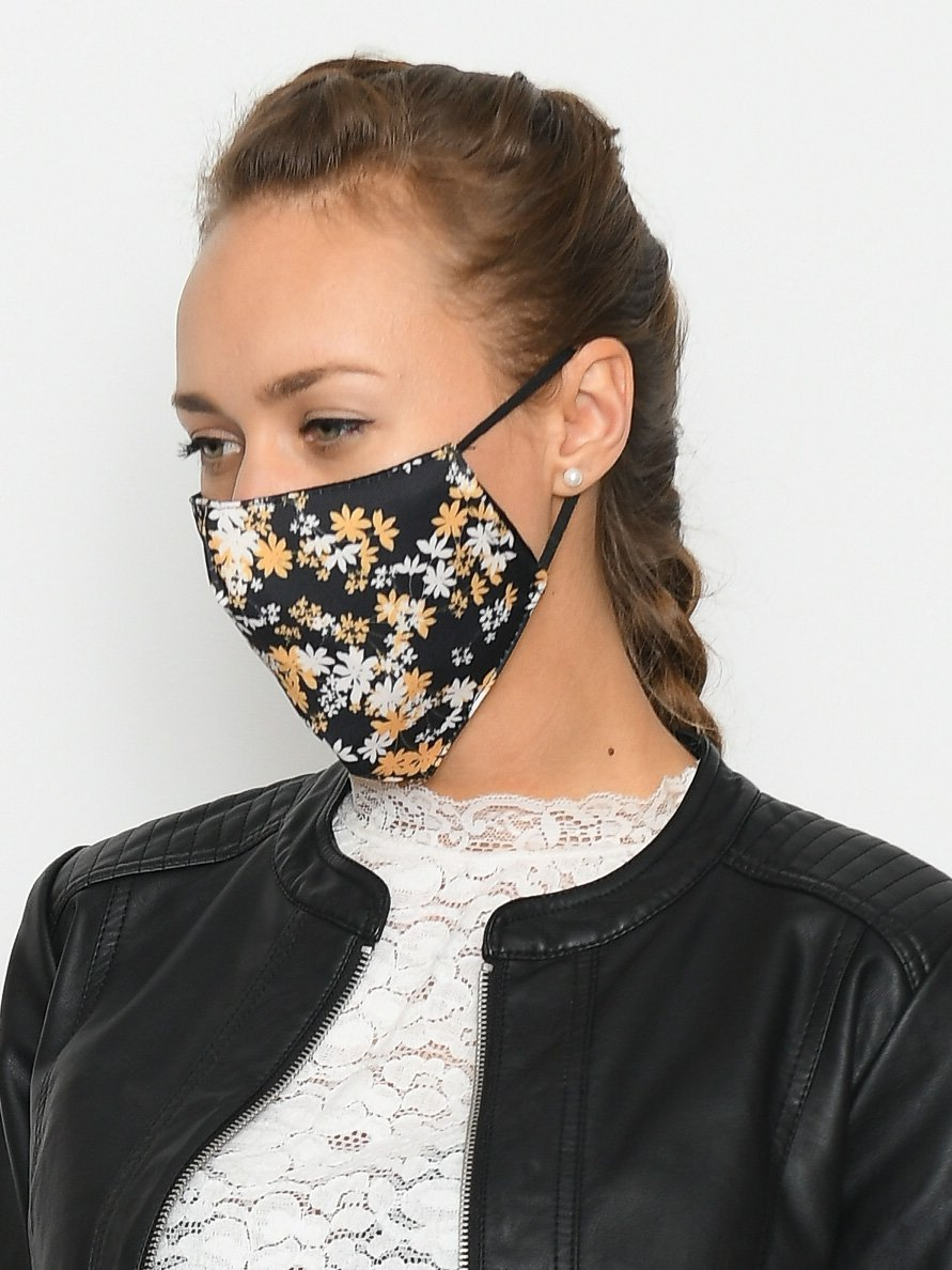 Stofmaske blooming black - Online-Mode