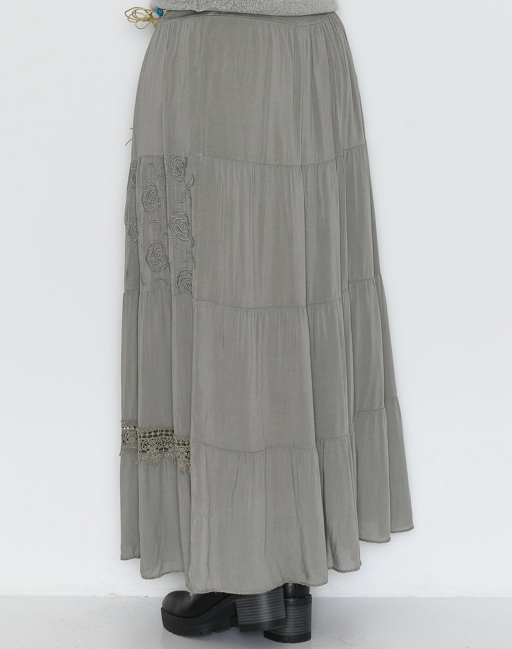 Susy skirt olive/grey - Online-Mode