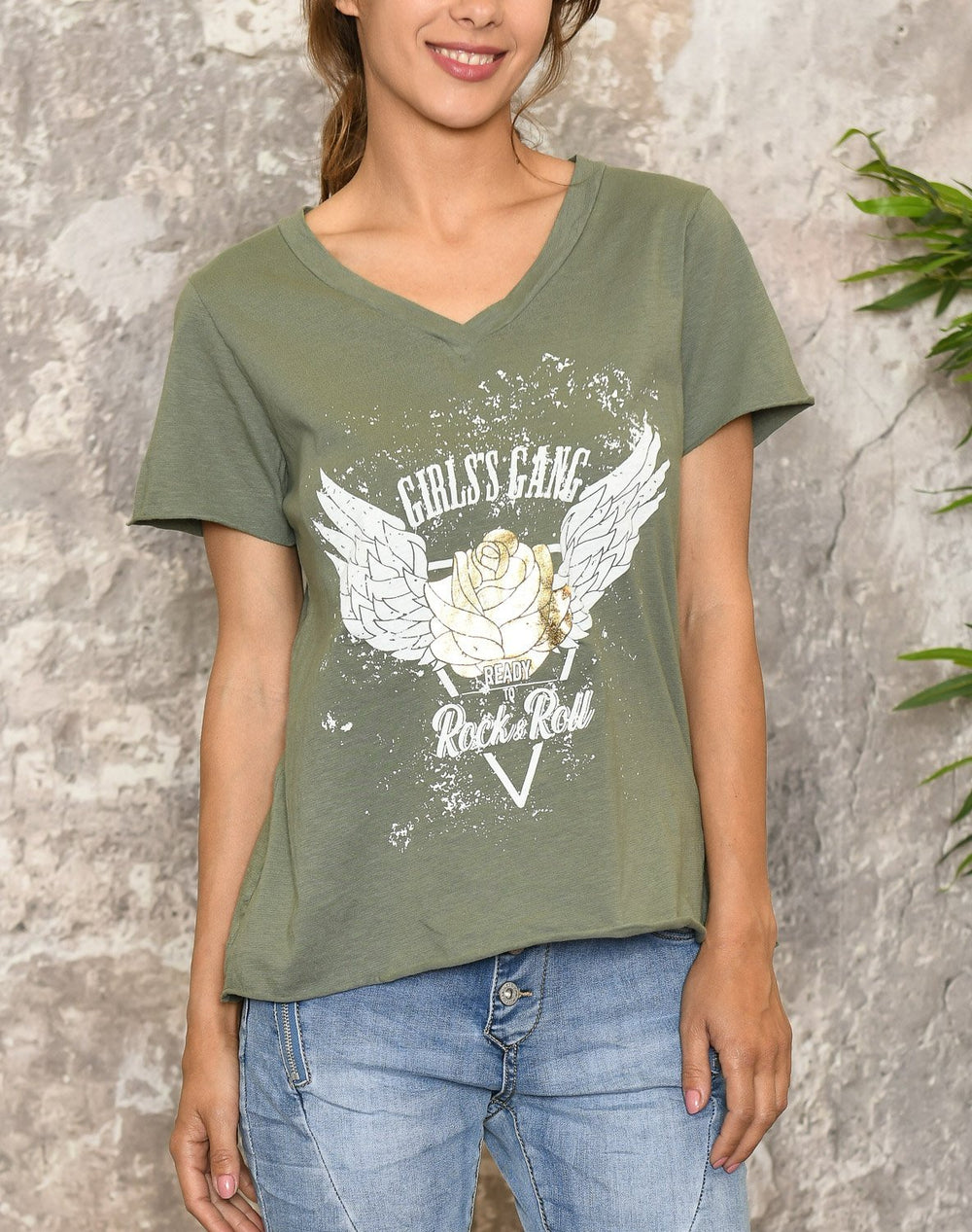 Tammy t-shirt olive - Online-Mode
