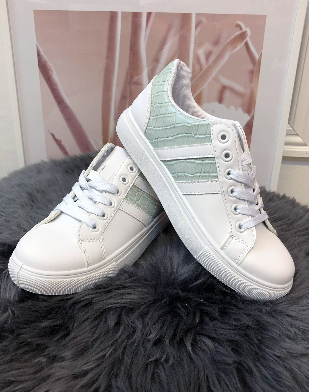Vicky sneakers white blue - Online-Mode