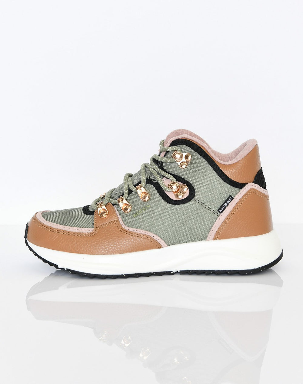 Woden Mille waterproof fifty shoes dusty olive - Online-Mode