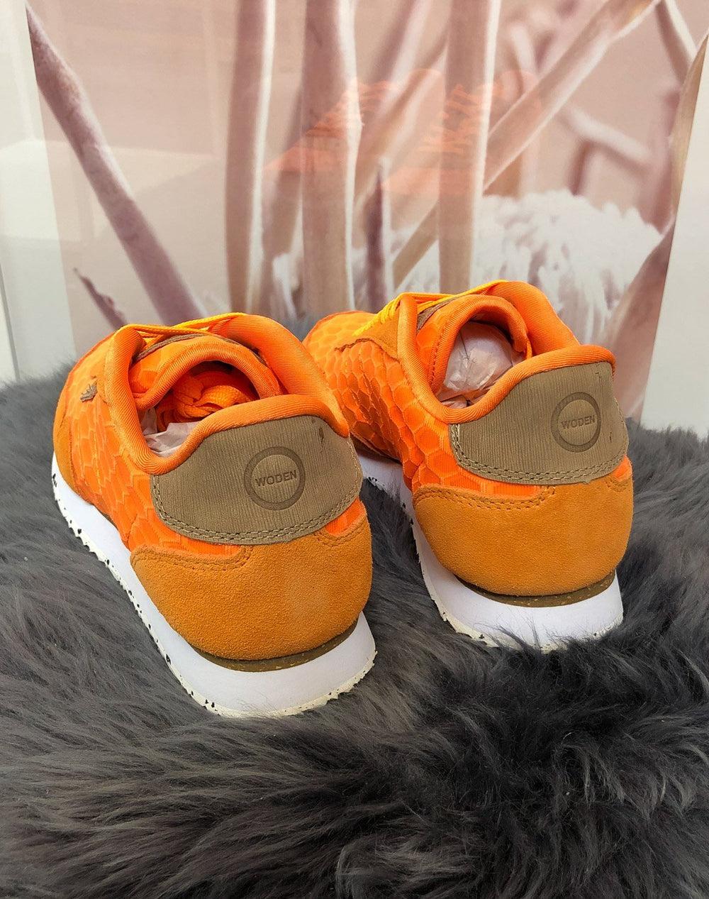 Woden Nora II mesh sneakers bright orange - Online-Mode
