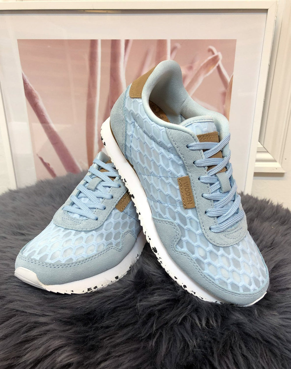 Woden Nora II mesh sneakers ice blue - Online-Mode