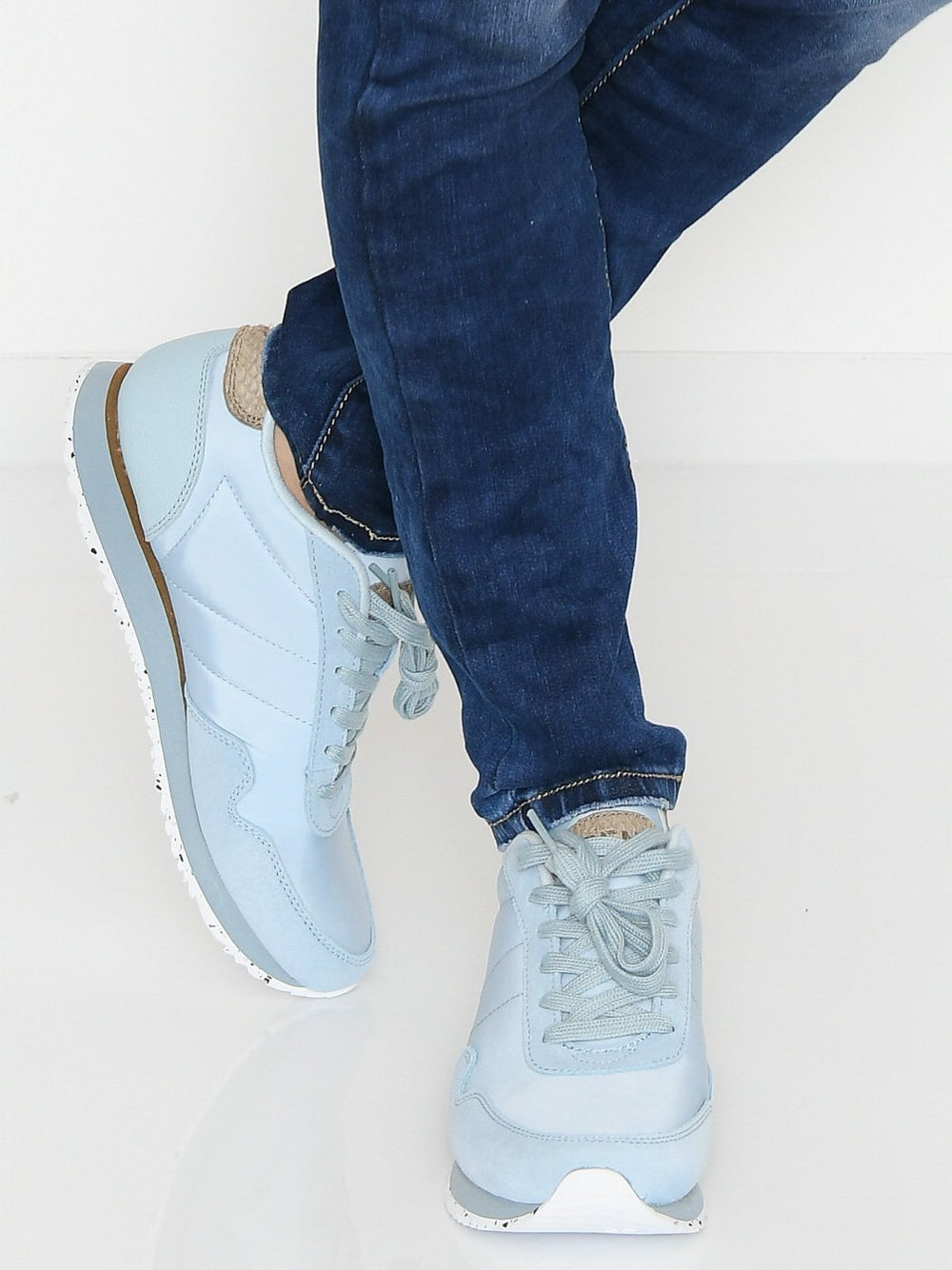 Woden Nora III Leather sneakers ice blue - Online-Mode