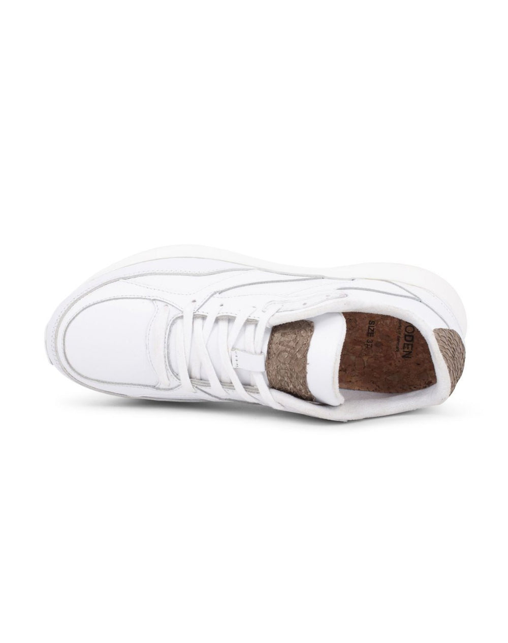 Woden Sophie leather sneakers bright white - Online-Mode