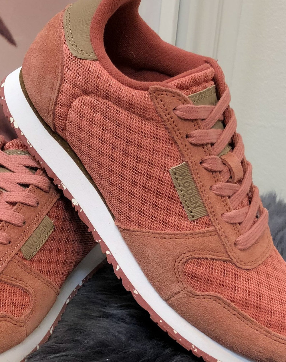 Woden Ydun suede mesh sneakers canyon rose - Online-Mode