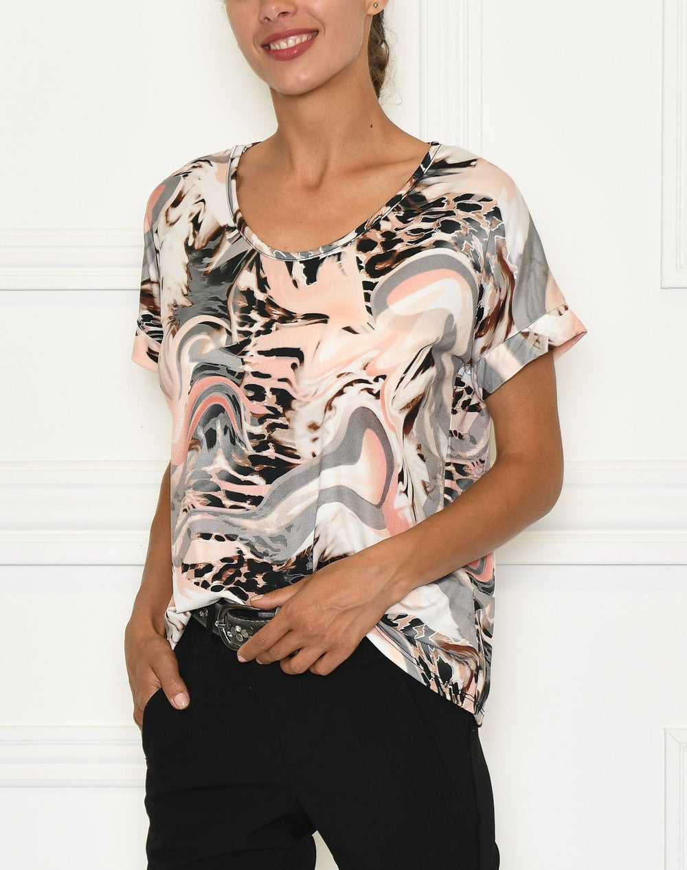 Zoey 4 t-shirt rose/grey flow - Online-Mode