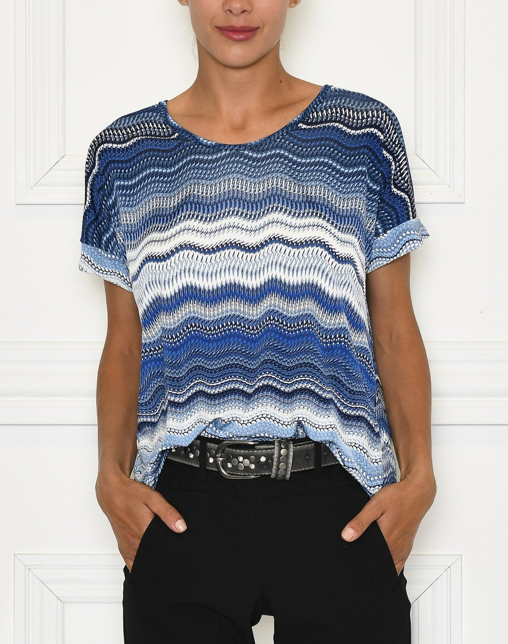 Zoey 5 t-shirt blue waves - Online-Mode