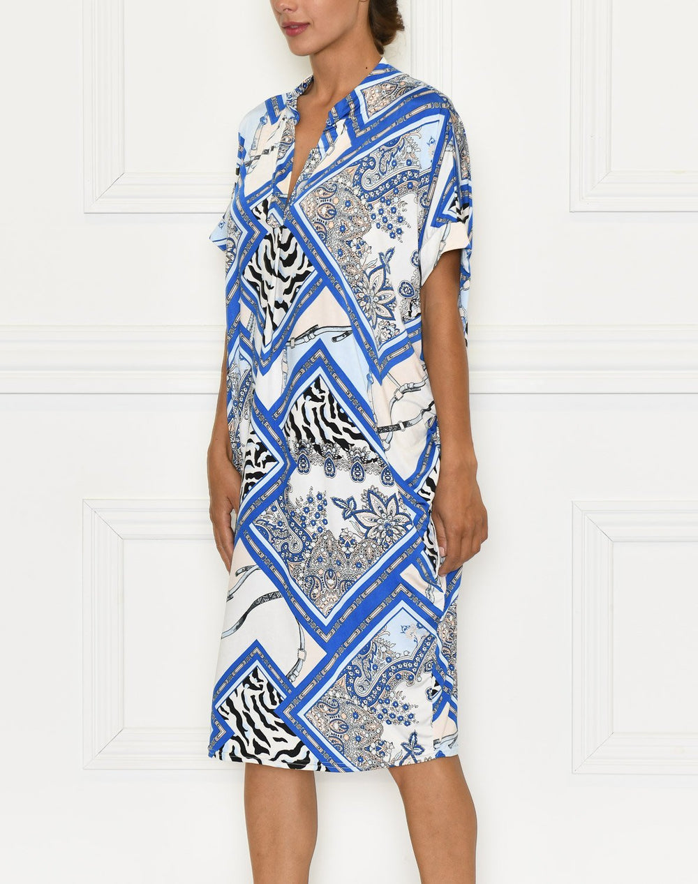 Zora dress blue patterns - Online-Mode