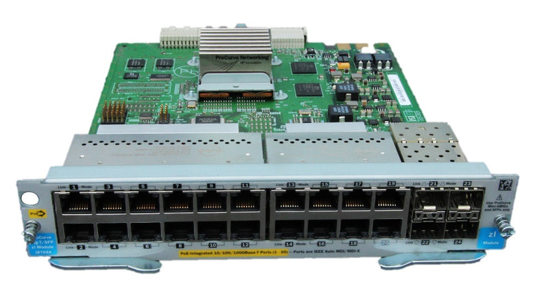HP 20-Port Gig-T PoE 4X SFP Mini-GBIC Module - REFURBISHED - J8705A