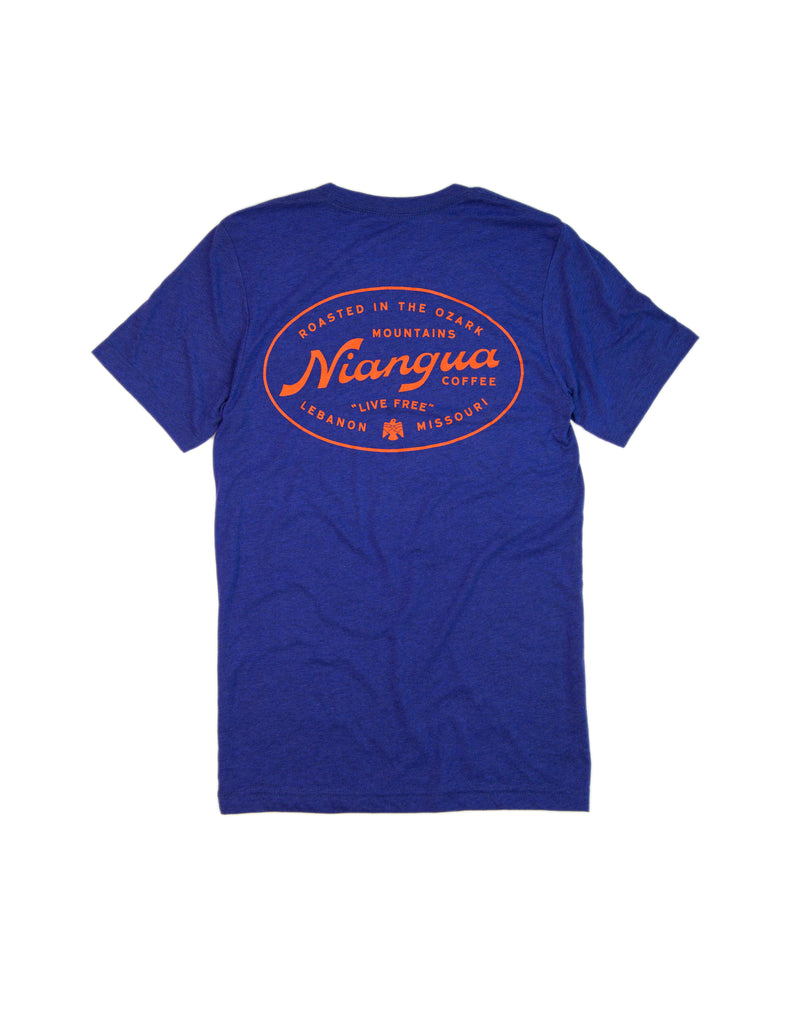 Blue Campground Tee Shirt - Back