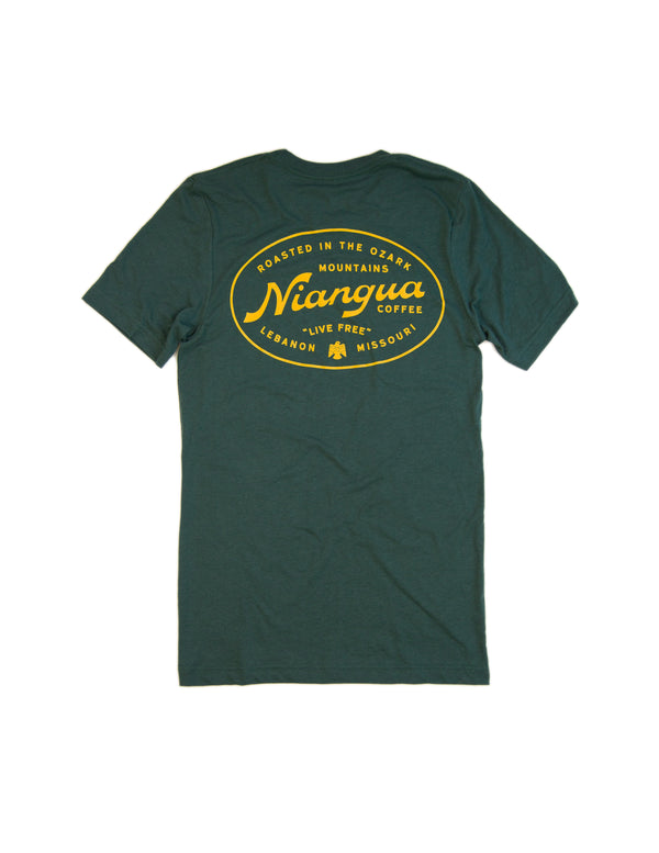 Green Campground Tee Shirt - Back