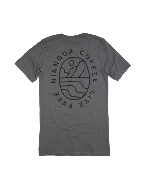 Dolomite Moon Valley Pocket Tee Shirt - Back