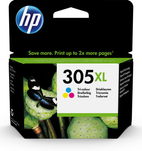 HP # 305XL High Yield Tri-color Original Ink Cartridge - HP 2720/41…
