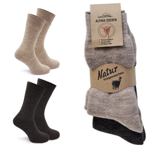 MOUNTREX Alpaka Socken, Wollsocken - Thermosocken