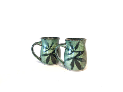 Peppermint Green Large Mugs by Kim Potter