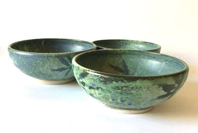Peppermint Green Soup Bowls by Kim Potter