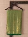 Digital Photo Woven In Bottle Green Pure Kanchipuram Silk Saree with Gold Zari