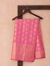 Kanchi Pattern Woven In Regal Purple Pure Kanchipuram Silk Saree with Gold Zari