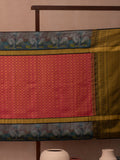 Diamond Modules Woven In Cerise Pink Pure Kanchipuram Silk Saree with Gold Zari