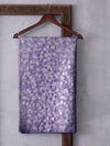 Universe Design Woven In Electric Purple Pure Kanchipuram Silk Saree with Silver Zari