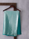 Digital Photo Woven In Sapphire Isles Green Pure Kanchipuram Silk Saree with Silver Zari