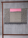 Braided Checks Woven In Taffy Pink Pure Kanchipuram Silk Saree with Silver Zari
