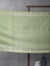 Kanchi Motif Woven In Eco Green Pure Kanchipuram Silk Saree with Silver Zari