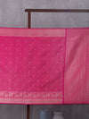 Kanchi Motif Woven In Scorching Pink Pure Kanchipuram Silk Saree with Silver Zari