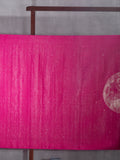 Universe Design Woven In Scorching Pink Pure Kanchipuram Silk Saree with Silver Zari