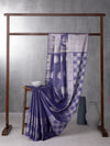 Classical Art Woven In Electric Purple Pure Kanchipuram Silk Saree with Silver Zari