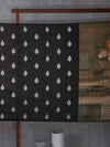 Famed Indian Art On Kanchipuram Black Silk with Damask Motifs