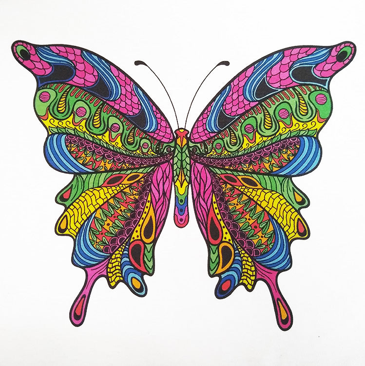 Colorful Butterfly Graphic Printed T-Shirt
