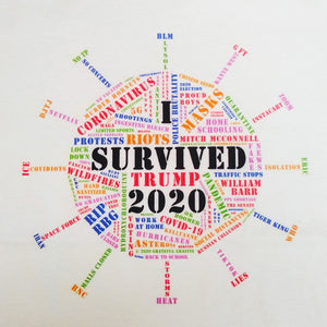 I SURVIVED 2020 Color Graphic Printed T-Shirt - Exclusive Coronavirus Covid-19 Word Cloud Design