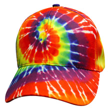 Load image into Gallery viewer, Rainbow Spiral Tie Dye Baseball Trucker Cap Hat