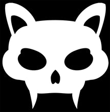 Load image into Gallery viewer, Cat Head with Fangs Vinyl Decal Sticker for Cars, Windows, Signs, Etc.