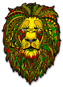 Trippy Crazy Colorful Reggae Rasta Lion Vinyl Sticker Decal - FREE Shipping - Psychedelic Rasta Lion