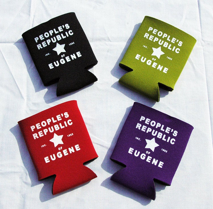 Printed Can Cozie Cooler Insulator - People's Republic of Eugene